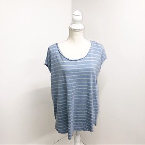 Two by Vince Camuto Blue/Gray T-shirt Size 2X